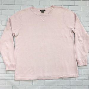 Eddie Bauer Sweater Womens Sz S Pink Crew Neck